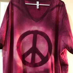 Bella Canvas dyed peace sign t-shirt